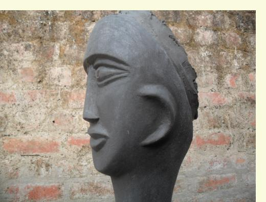 Nek Chand sculpture head