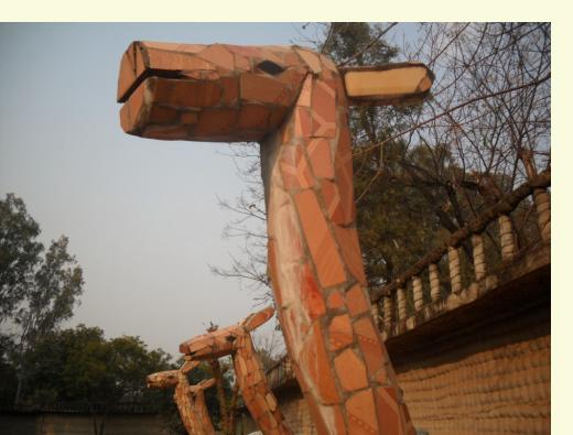 mosaic camels in Rock Garden Phase 3